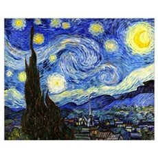 Van Gogh - Starry Night Wall Art Poster