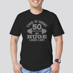 Funny 50 Year Old Men's Fitted T-Shirt (dark)