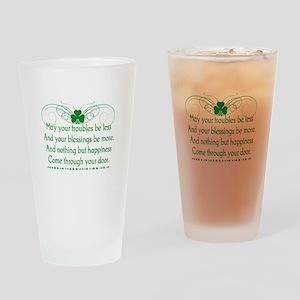 Irish Blessing Drinking Glass