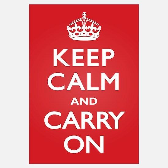 Keep Calm Carry On Wall Art