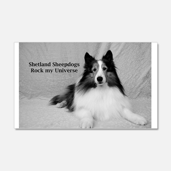 Shetland Sheepdogs Rock my Univer Wall Decal