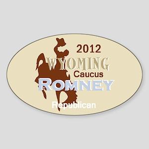 Romney WYOMING Sticker (Oval)