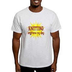 Knitting Brightens T-Shirt