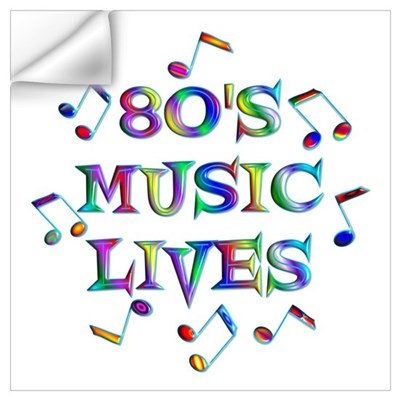 80's Music Wall Art Wall Decal