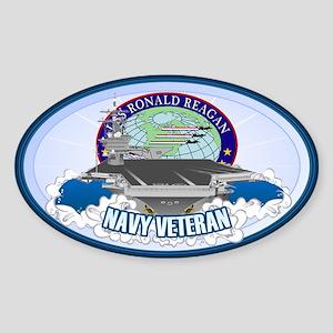 CVN-76 USS Reagan Sticker (Oval)