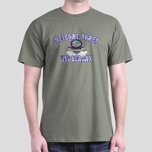 Welcome USS Reagan! Dark T-Shirt