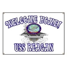 Welcome USS Reagan! Banner