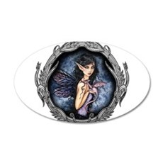 Gothic Fairy and Dragon Fantasy Art Wall Decal