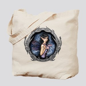 Gothic Fairy and Dragon Fantasy Art Tote Bag
