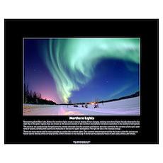 Northern Lights Over Bear Lake, Alaska Poster Poster