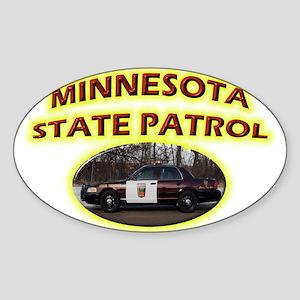 Minnesota State Patrol Sticker (Oval)