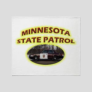 Minnesota State Patrol Throw Blanket