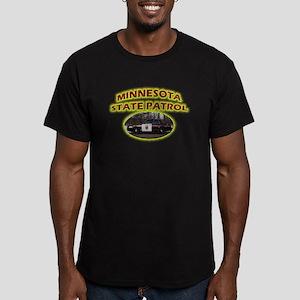 Minnesota State Patrol Men's Fitted T-Shirt (dark)