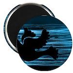 Black Dove Flying through Blu Magnet
