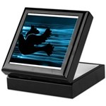 Black Dove Flying through Blu Keepsake Box