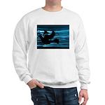 Black Dove Flying through Blu Sweatshirt