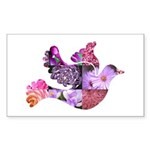 Pink Dove Flying Sticker (Rectangle)