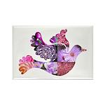 Pink Dove Flying Rectangle Magnet (10 pack)