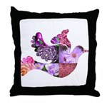 Pink Dove Flying Throw Pillow