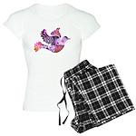 Pink Dove Flying Women's Light Pajamas