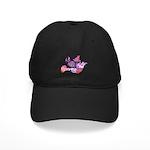 Pink Dove Flying Black Cap