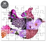 Pink Dove Flying Puzzle