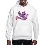 Pink Dove Flying Hooded Sweatshirt