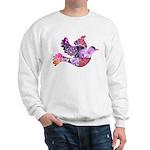 Pink Dove Flying Sweatshirt