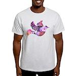 Pink Dove Flying Light T-Shirt