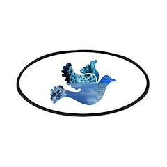 Blue Bird - Dove in flight Patches
