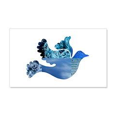 Blue Bird - Dove in flight 22x14 Wall Peel