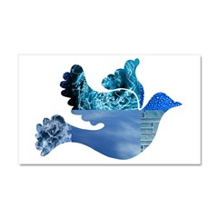 Blue Bird - Dove in flight Car Magnet 20 x 12