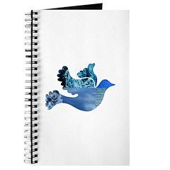 Blue Bird - Dove in flight Journal