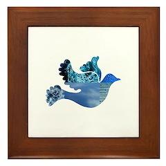 Blue Bird - Dove in flight Framed Tile