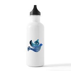 Blue Bird - Dove in flight Water Bottle