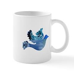 Blue Bird - Dove in flight Mug