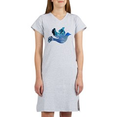 Blue Bird - Dove in flight Women's Nightshirt