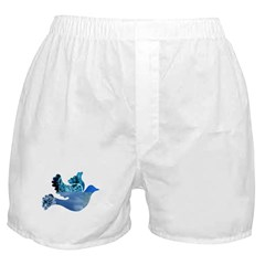 Blue Bird - Dove in flight Boxer Shorts