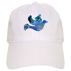 Blue Bird - Dove in flight Baseball Cap