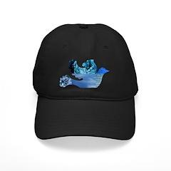 Blue Bird - Dove in flight Baseball Hat