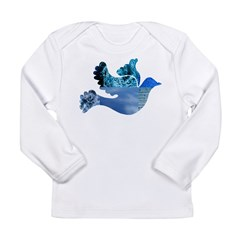 Blue Bird - Dove in flight Long Sleeve Infant T-Sh