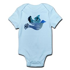 Blue Bird - Dove in flight Infant Bodysuit