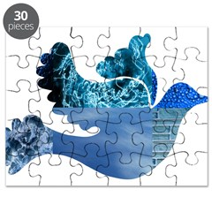 Blue Bird - Dove in flight Puzzle