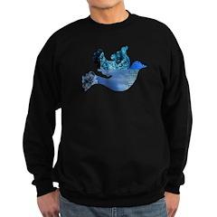 Blue Bird - Dove in flight Sweatshirt (dark)