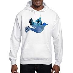 Blue Bird - Dove in flight Hoodie
