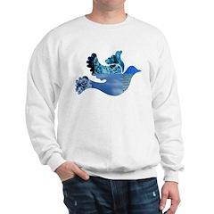 Blue Bird - Dove in flight Sweatshirt