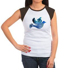 Blue Bird - Dove in flight Women's Cap Sleeve T-Sh
