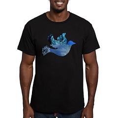 Blue Bird - Dove in flight T