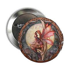 Autumn Red Gothic Fairy Art 2.25