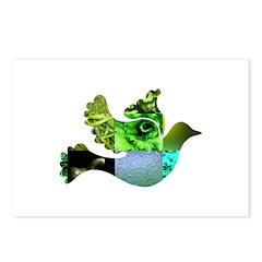 Green Bird Design - Flying Do Postcards (Package o